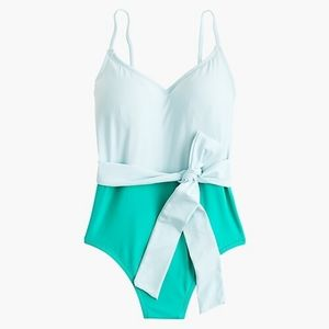 NWT J. Crew Belted colorblock swimsuit